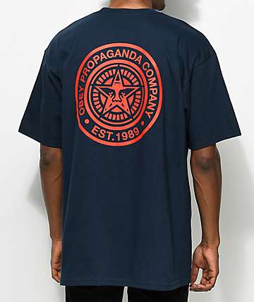 Obey Propaganda Navy & Red T-Shirt