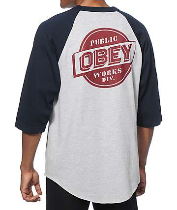 Obey Public Works Baseball T-Shirt