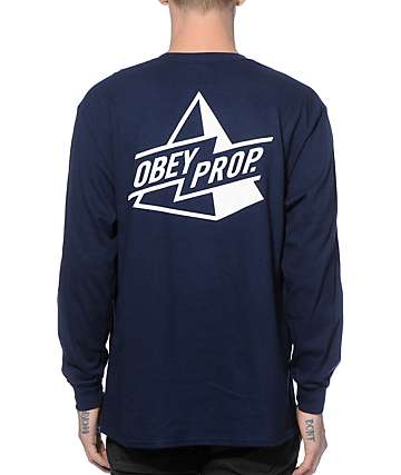 Obey Pyramid Long Sleeve Pocket T-Shirt