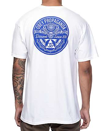 Obey Pyramid Of Dissent White T-Shirt