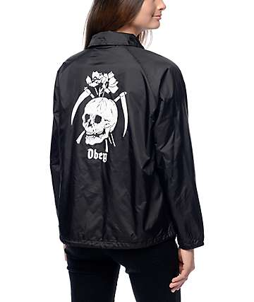 Obey Reap Skull Black Coaches Jacket