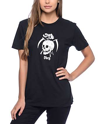 Obey Reap Skull Black T-Shirt