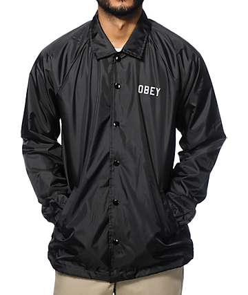 Obey Reflective Collegiate Coach Jacket