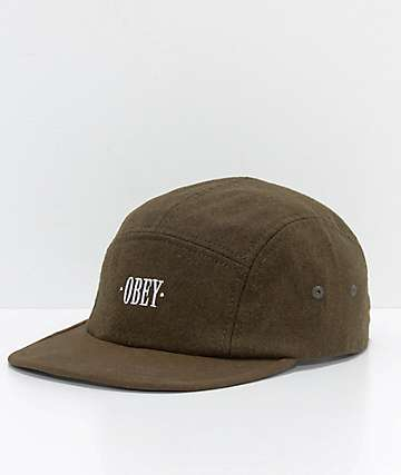 Obey Reprise Army Green 5 Panel Hat