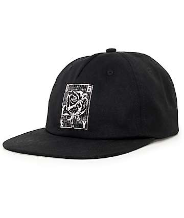 Obey Rose Grid Black Baseball Hat