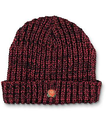 Obey Rose Hill Burgundy Beanie