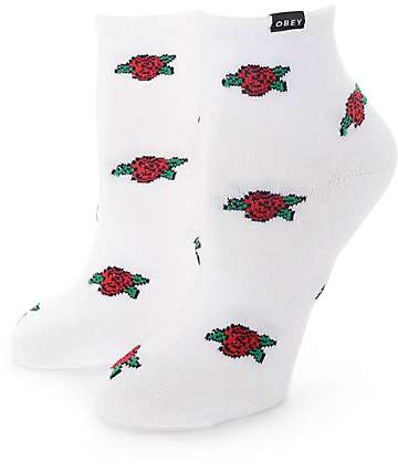 Obey Rose Society Ankle Socks