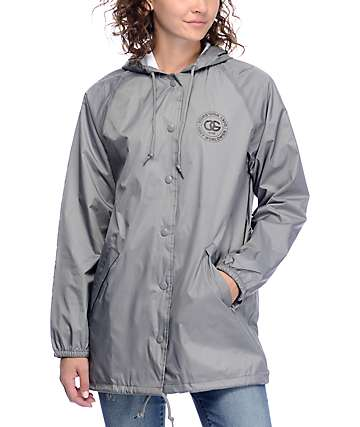 Obey Rue De La Ruine Grey Coaches Jacket