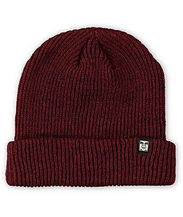 Obey Ruger Heather Burgundy Beanie