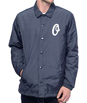Obey Sanders Navy Coaches Jacket