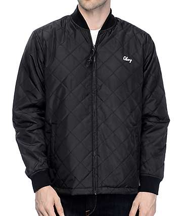 Obey Savage Black Bomber Jacket