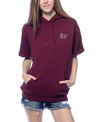 Obey Shaka Waves Port Royale Short Sleeve Hoodie