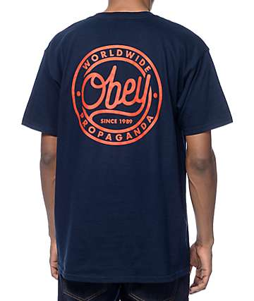 Obey Since 1989 Navy T-Shirt