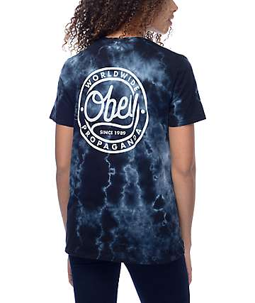 Obey Since 89 Black Tie Dye T-Shirt