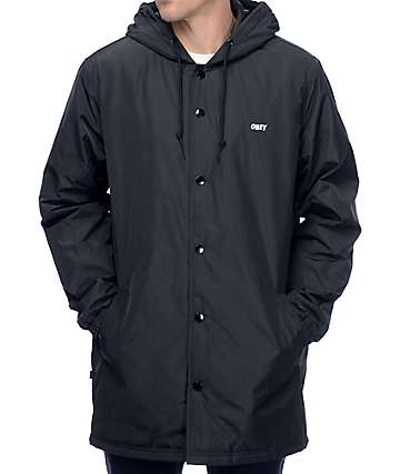Obey Singford Stadium Black Coaches Jacket