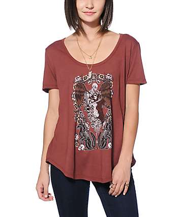 Obey Sleep Burgundy T-Shirt
