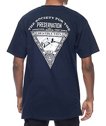 Obey Society Of Destruction Navy T-Shirt