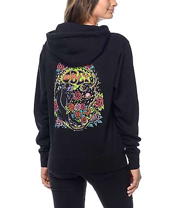 Obey Space & Time Black Hoodie