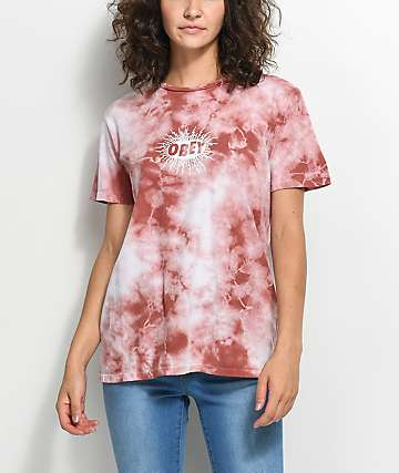 Obey Spazz Dusty Rose Tie Dye T-Shirt