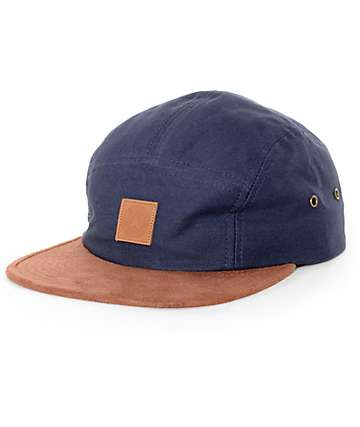 Obey Stockholm Navy 5 Panel Hat