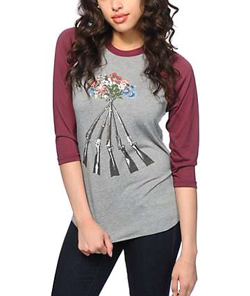 Obey Stockpile Baseball Tee