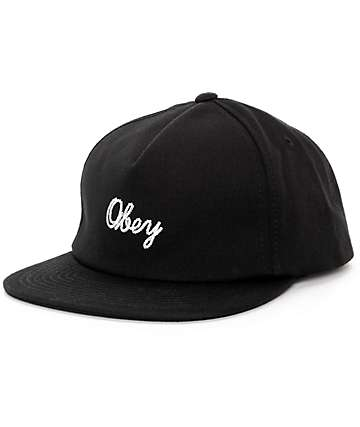 Obey Stratford Black Snapback Hat
