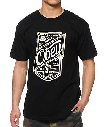 Obey Streets Are Ours Black T-Shirt