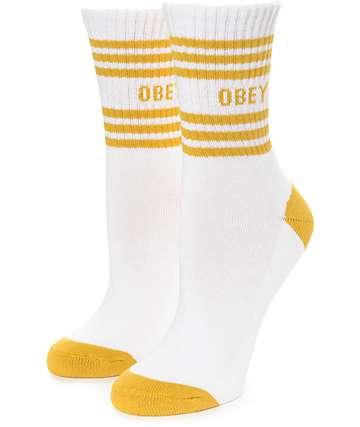 Obey Taylor White Crew Socks