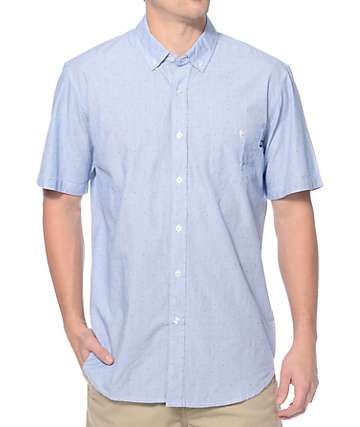 Obey The Arden Blue Button Up Shirt