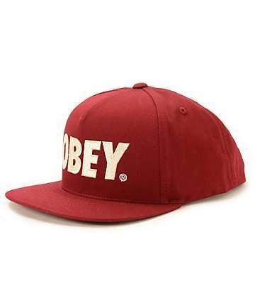 Obey The City Snapback Hat
