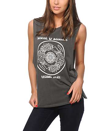 Obey Tiger Mandala Muscle Tank Top
