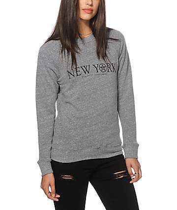 Obey Time Zone New York Crew Neck Sweatshirt