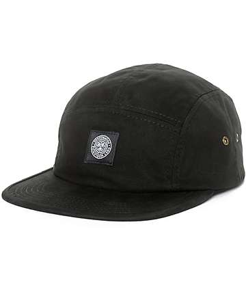 Obey Tomas gorra negra de cinco paneles