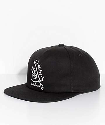 Obey Too Bad Black Snapback Hat