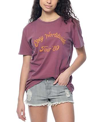 Obey Tour 89 Classic Merlot T-Shirt