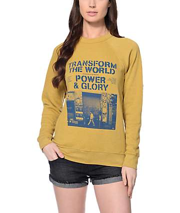 Obey Transform the World Crew Neck Sweatshirt