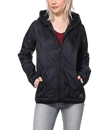 Obey Traveling Black Quilted Jacket