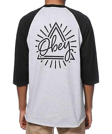 Obey Triangle camiseta de beisbol