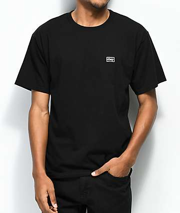 Obey Typewriter camiseta negra