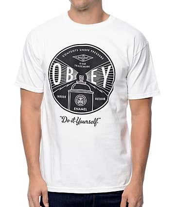 Obey Under Pressure White T-Shirt