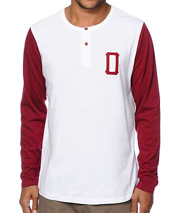 Obey Union Long Sleeve Henley T-Shirt