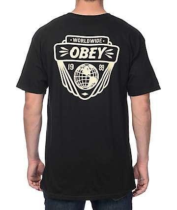 Obey Union Worldwide Black T-Shirt