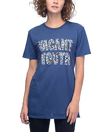 Obey Vacant Youth Navy T-Shirt