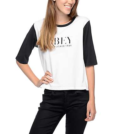 Obey Vanity Owen II White & Black T-Shirt