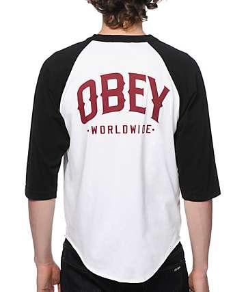 Obey Varsity 89 Baseball T-Shirt