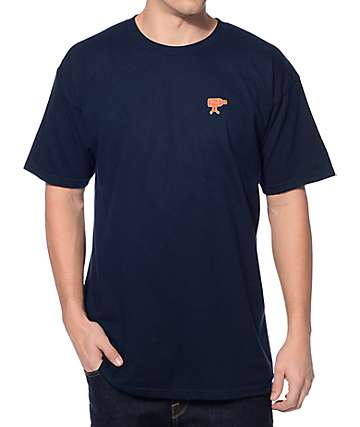 Obey Walk Home Navy T-Shirt