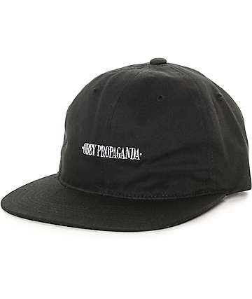 Obey Westwood Black Unstructured Strapback Hat