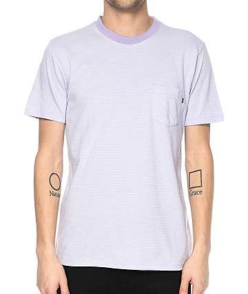 Obey Wisemaker camiseta con bolsillo en color lavanda