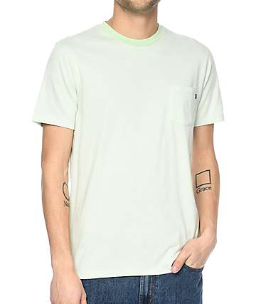 Obey Wisemaker camiseta con bolsillo en color menta