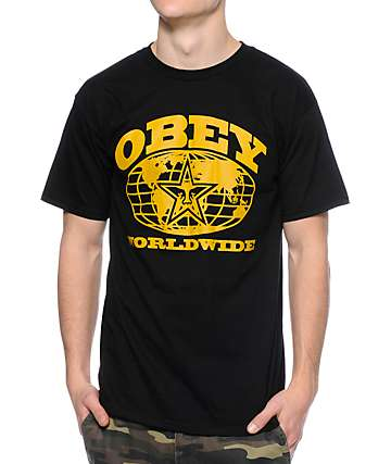Obey Worldwide Black T-Shirt